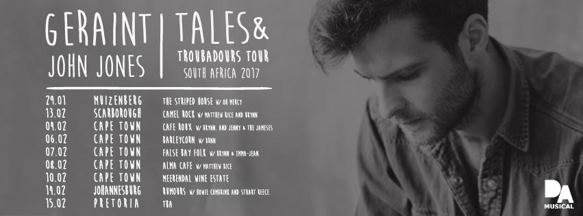 Geraint John Jones | Tales & Troubadours Tour South Africa 2017